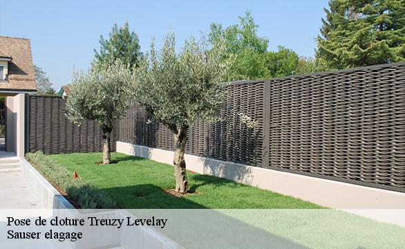 Pose de cloture  treuzy-levelay-77710 Sauser elagage